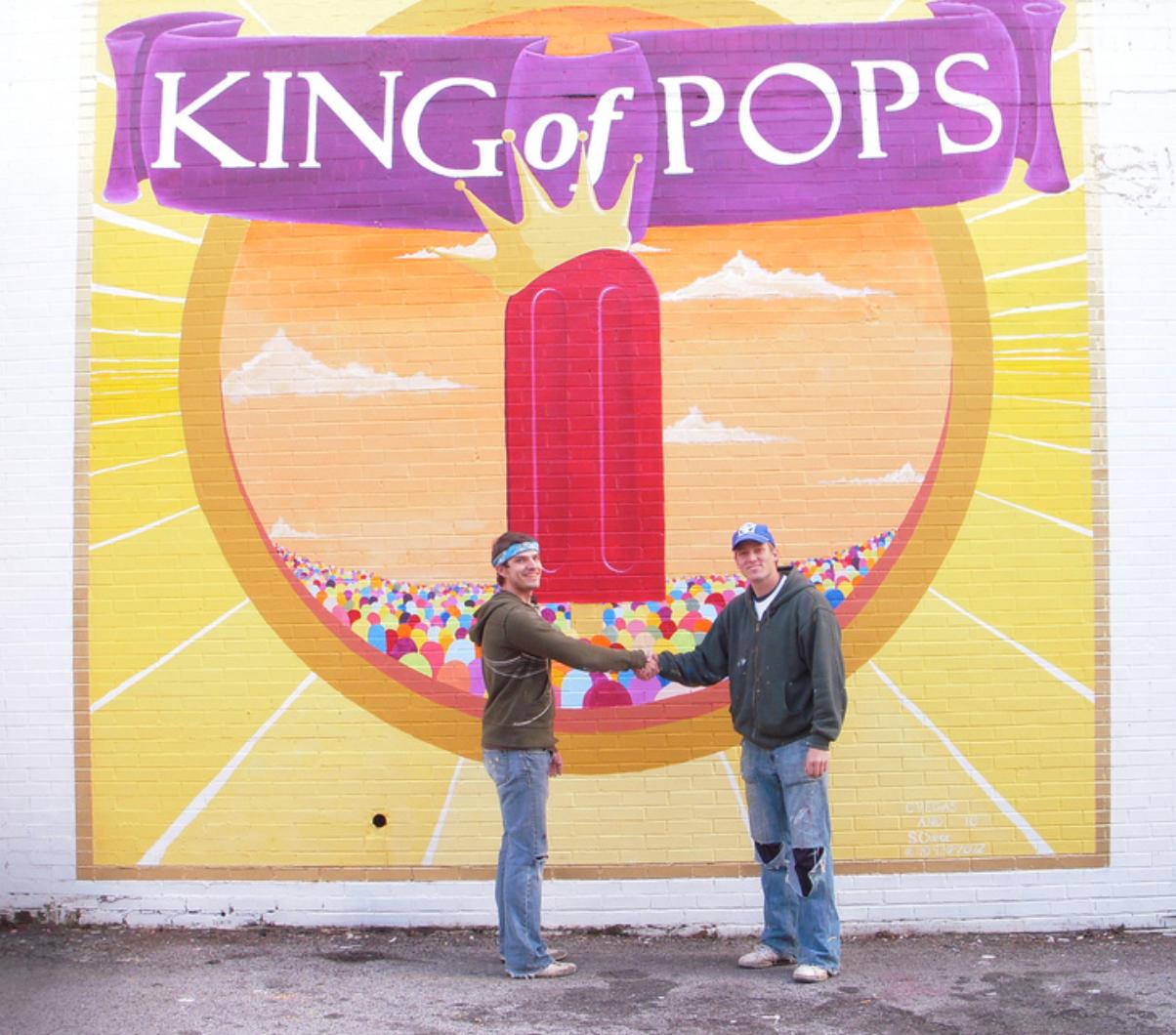 chris & steven King of Pops Mural