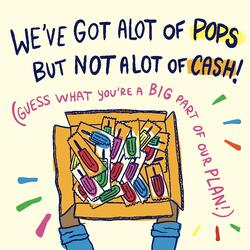 pops but no cash